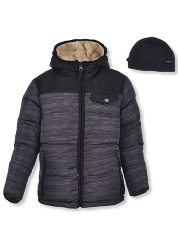 Weatherproof 1948 Boys' Reversible Insulated Jacket with Beanie - CookiesKids.com